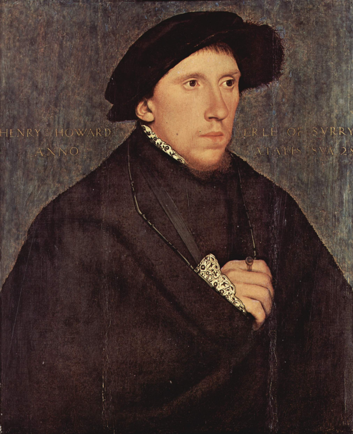 Hans Holbein The Younger. Portrait of the poet Henry Howard, Earl of Surrey