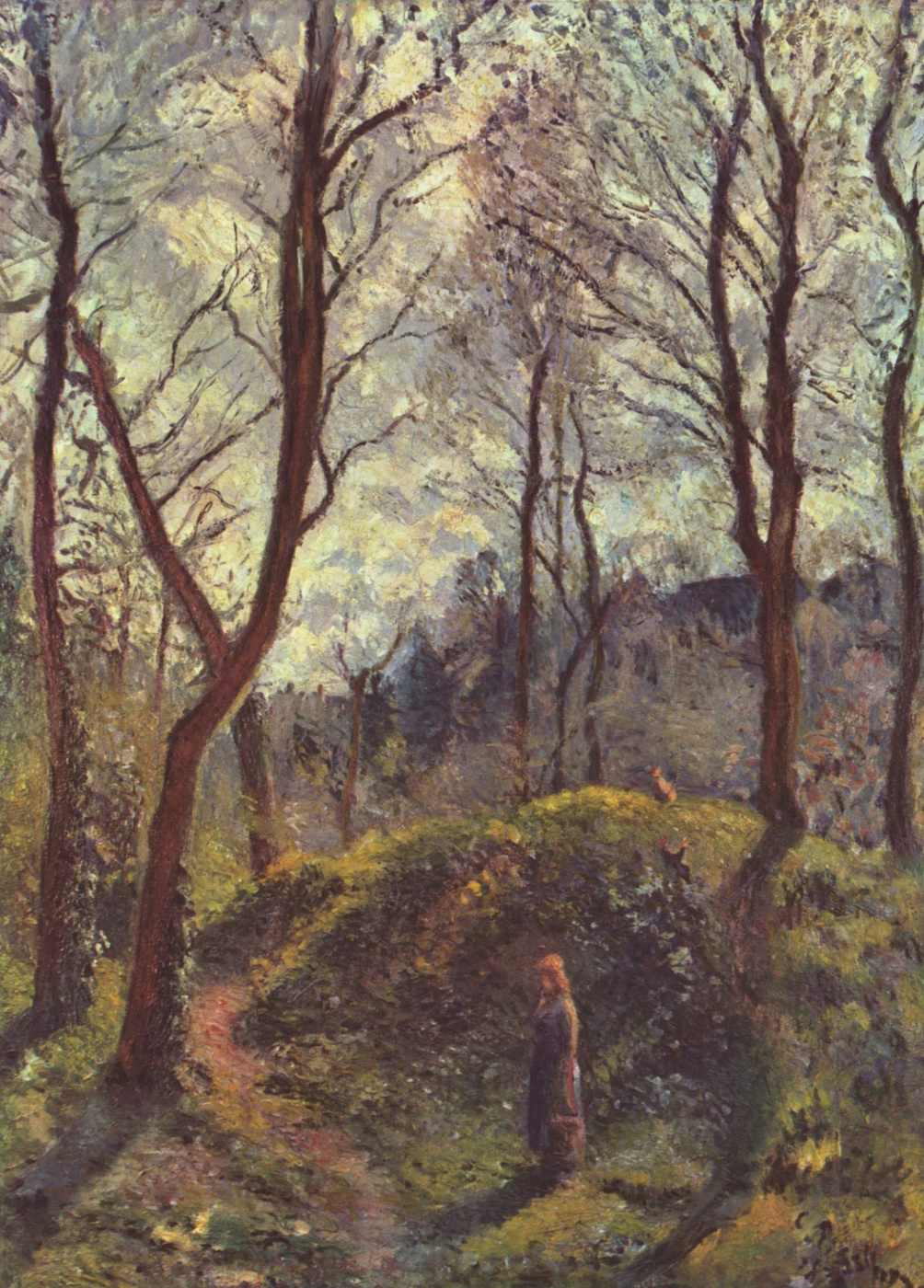 Camille Pissarro. Landscape with large trees