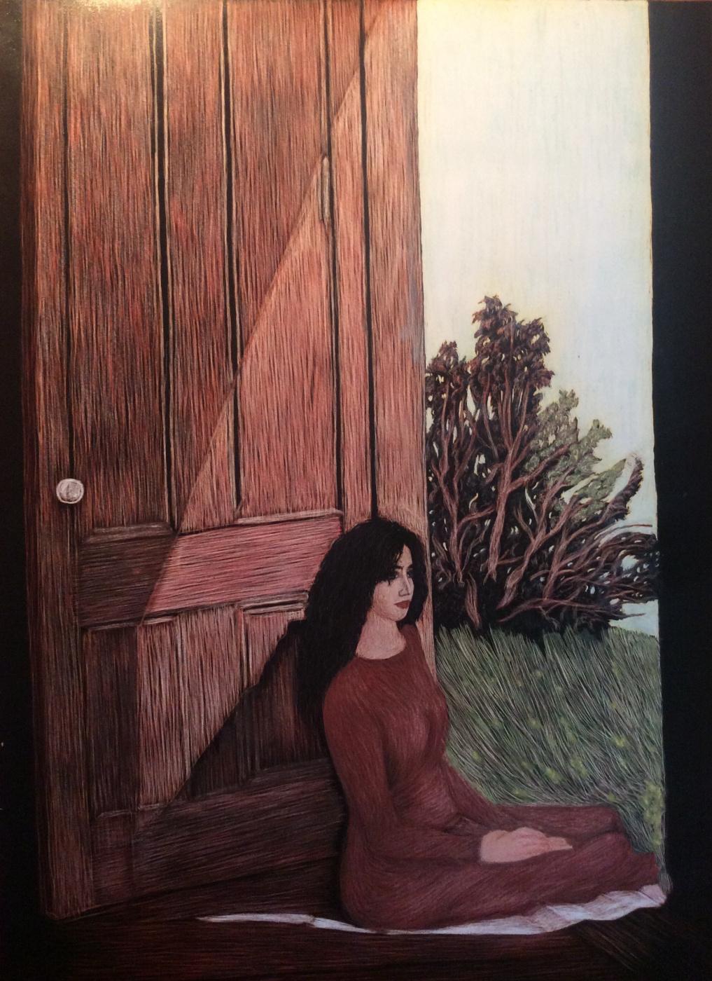 Martin Gurgenovich Ashkhatoev. Laura based on Andrew Wyeth's painting by Christina Olson (1947)