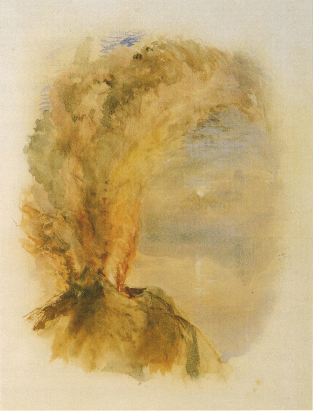 Джон Рёскин. Извержение Везувия
