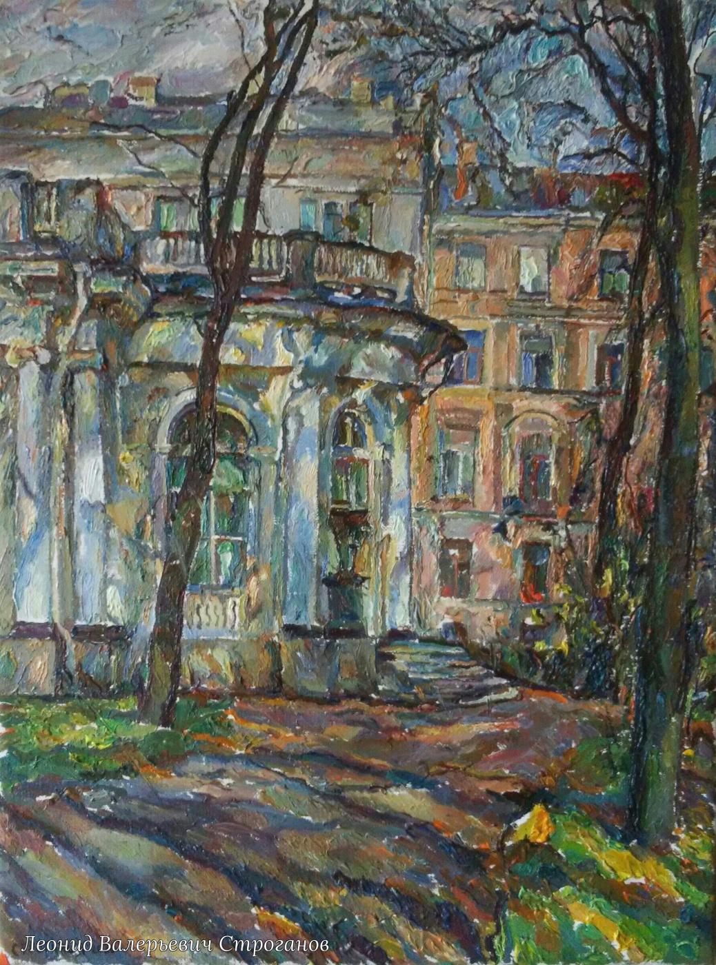 Leonid Valeryevich Stroganov. Pavilion in the park