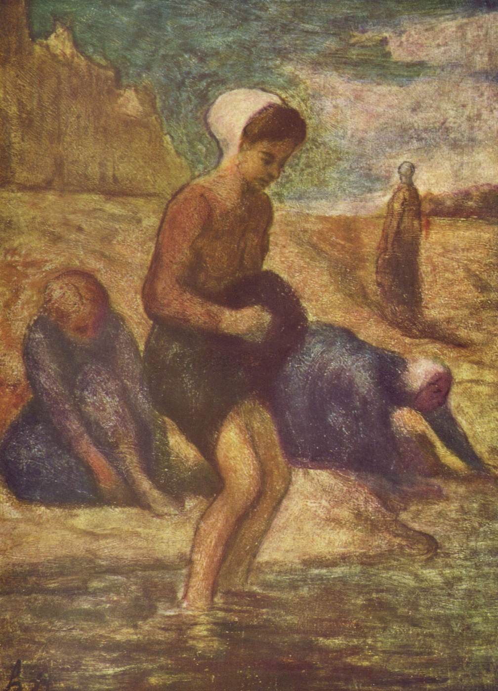 Honore Daumier. Bathing girl