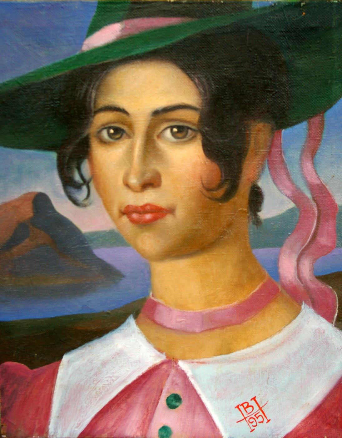 Nikolay Mikhailovich Volkov. Female portrait