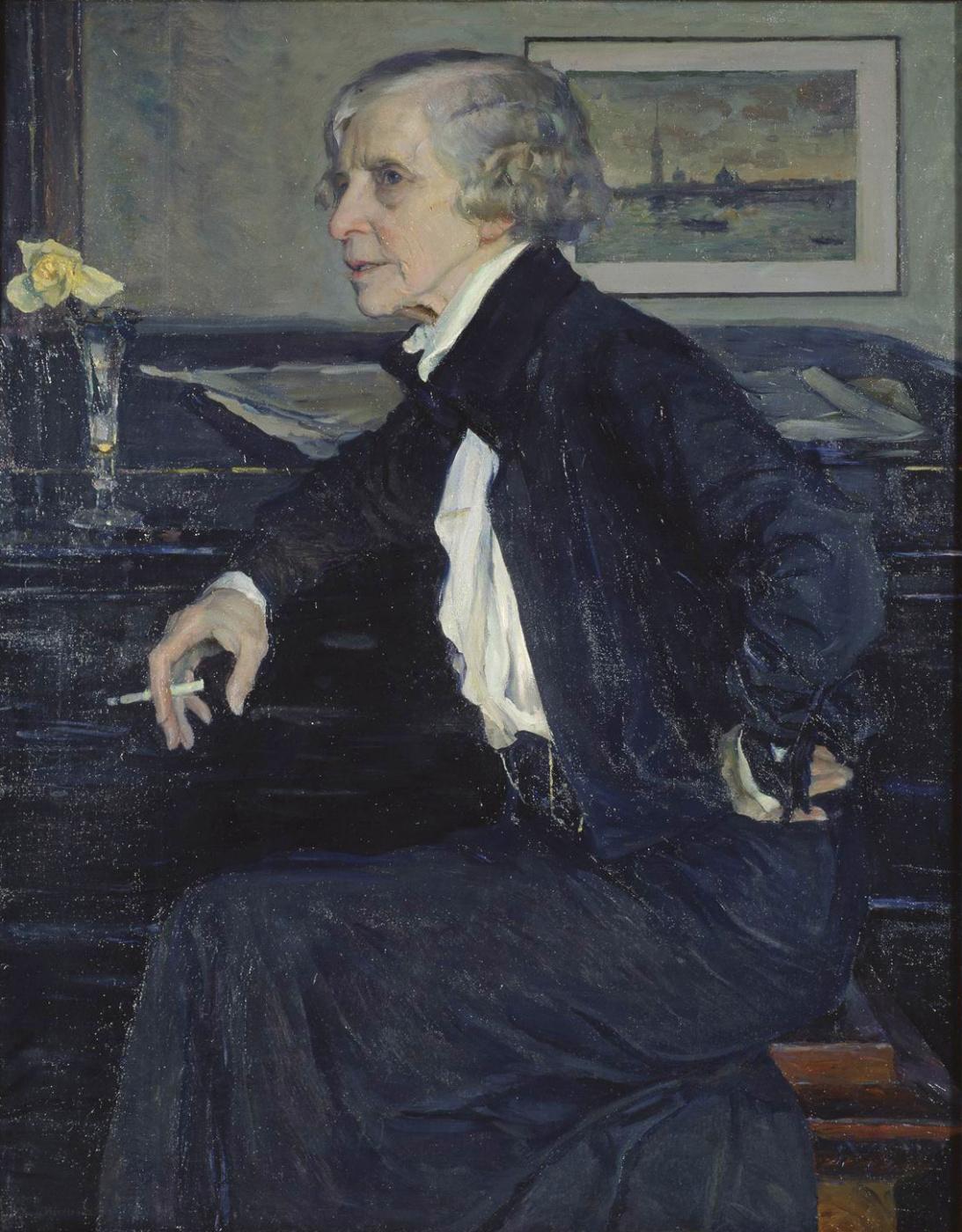 Mikhail Vasilyevich Nesterov. Portrait of artist E. S. Kruglikova