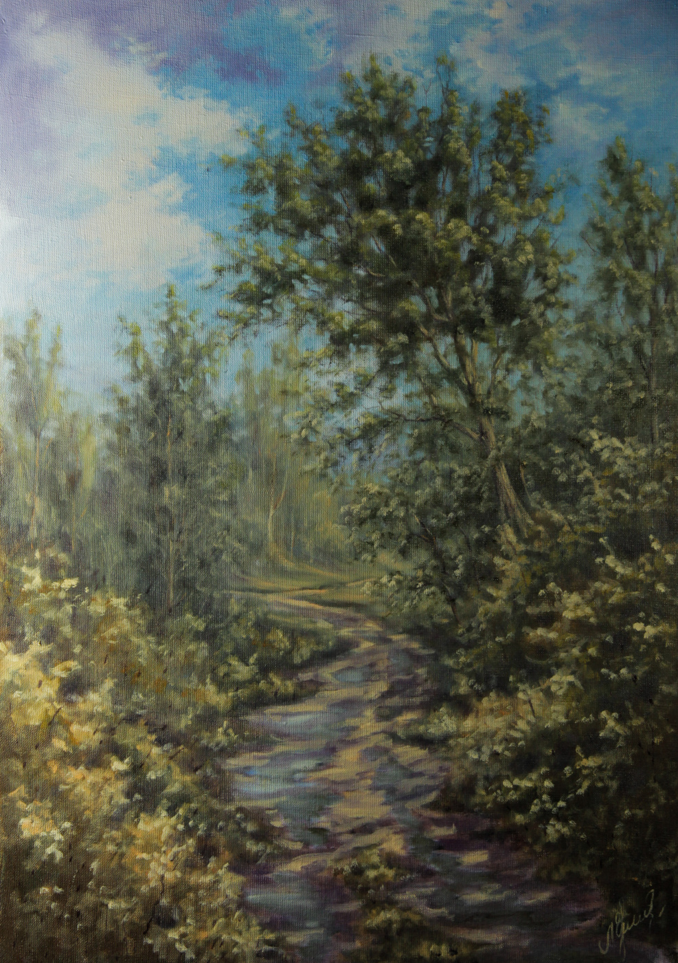 Валерий Левченко. No. 153 The road through the forest
