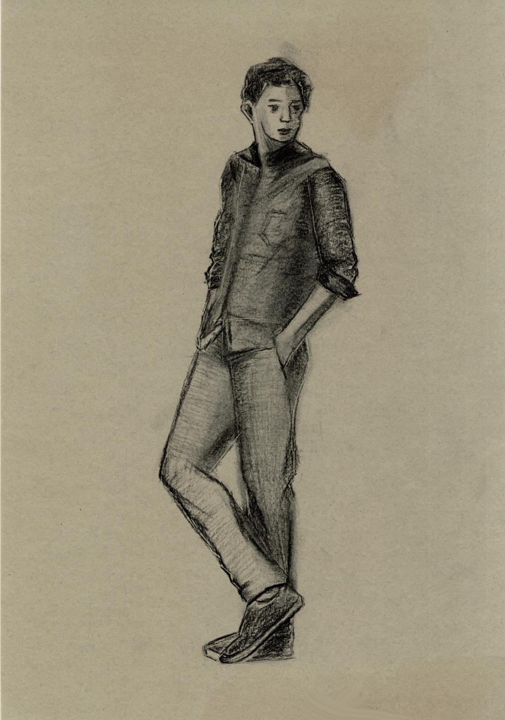 Polina. The man. Sketch
