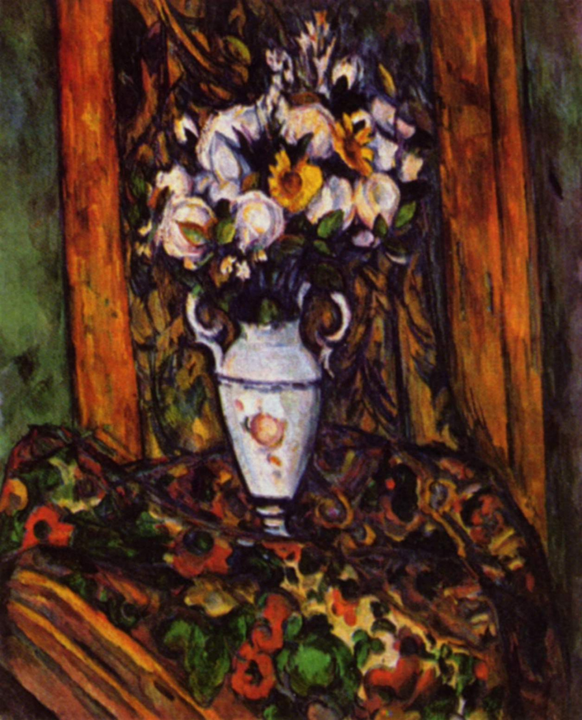 Paul Cezanne. Still life with vase with flowers