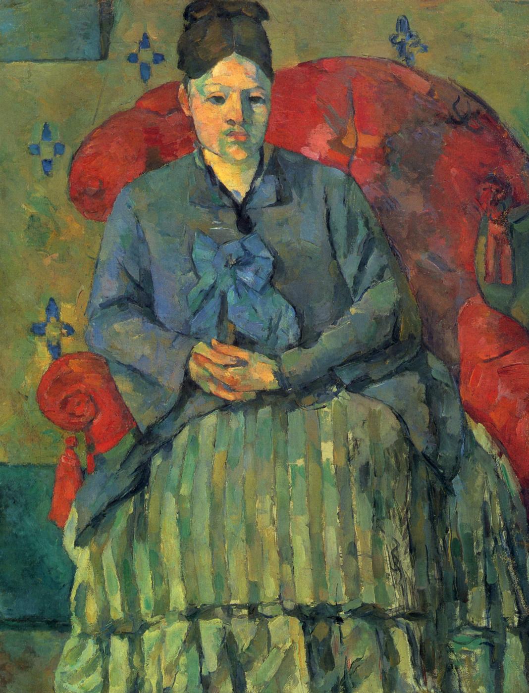 Paul Cezanne. Madame Cezanne in a red armchair