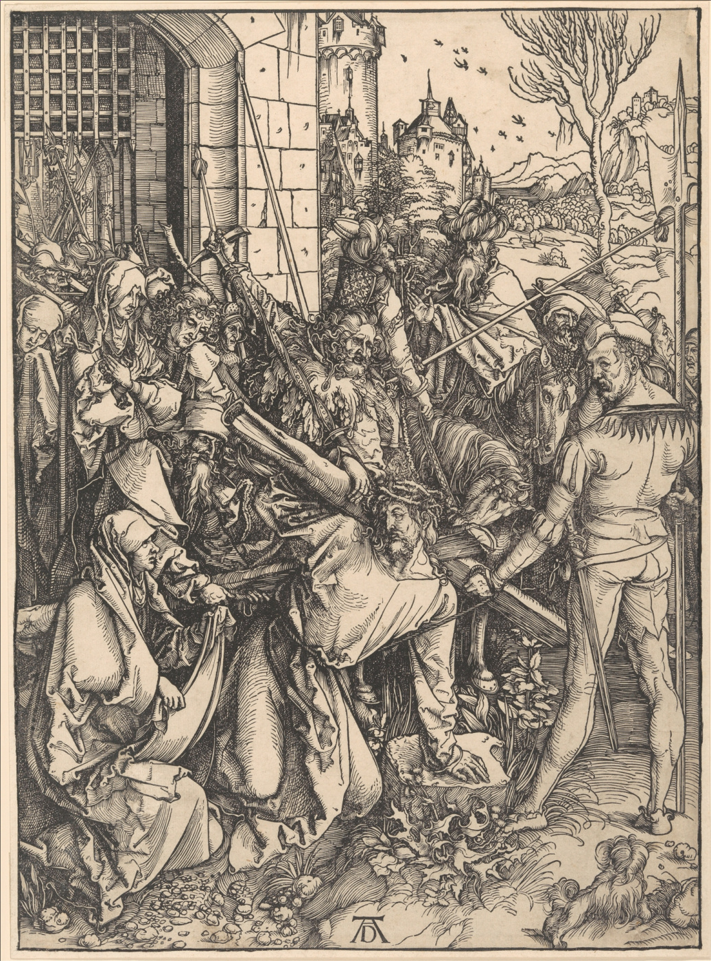 Albrecht Dürer. Christ carrying the cross