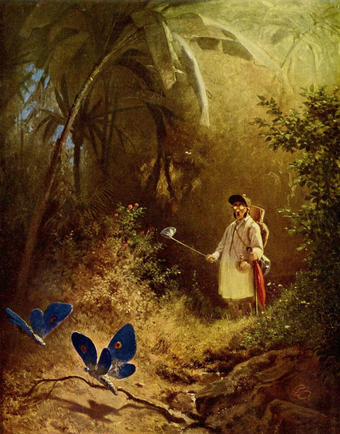 Karl Spitzweg. Butterfly catcher