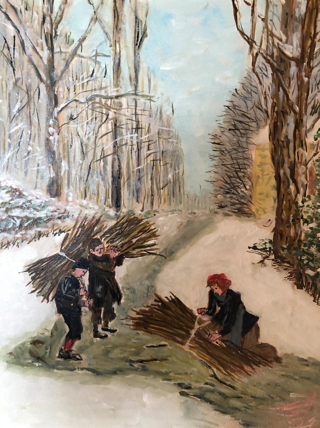 Sergey Vladimirovich Sebini. Brushwood, based on Frere, Pierre Edouard.