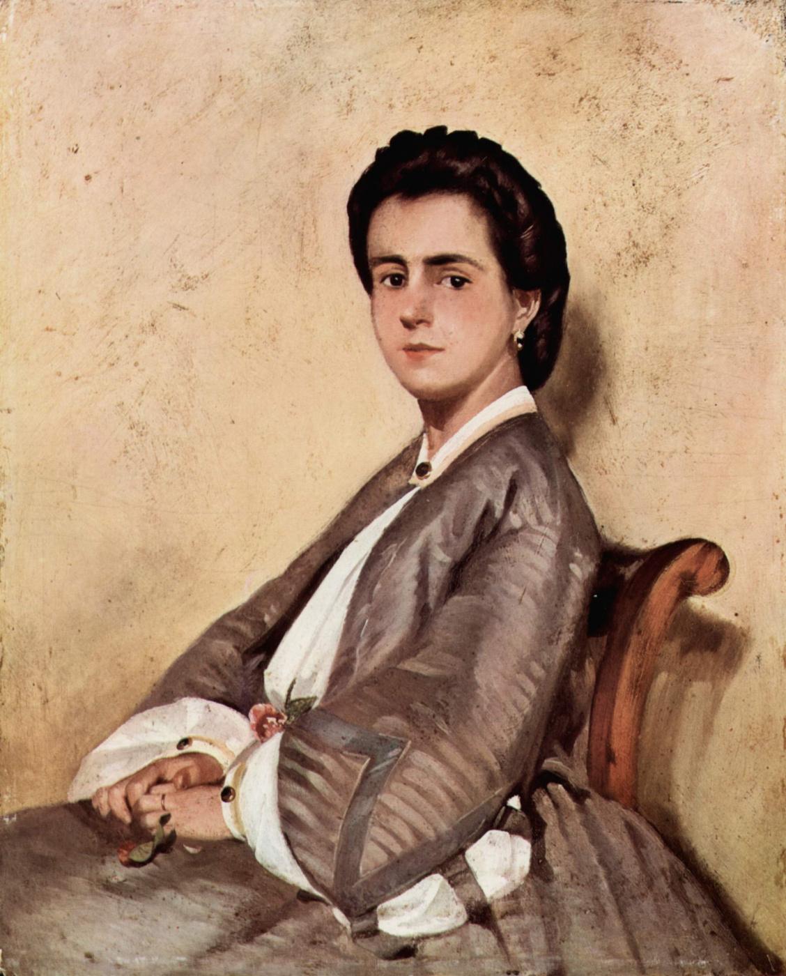 Giovanni Fattori. Portrait of a cousin of the artist