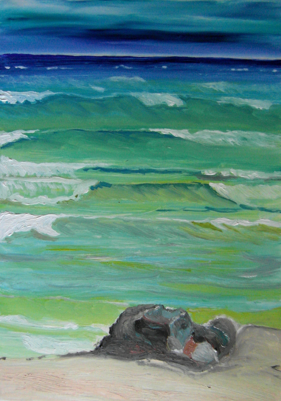 Valery Bronnikov. Sea and pebble