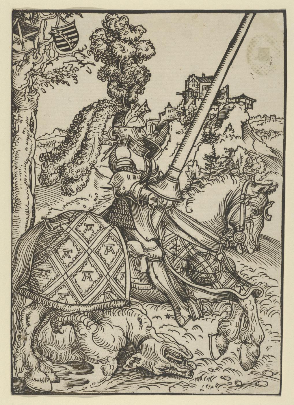 Лукас Кранах Старший. Святой Георгий на коне