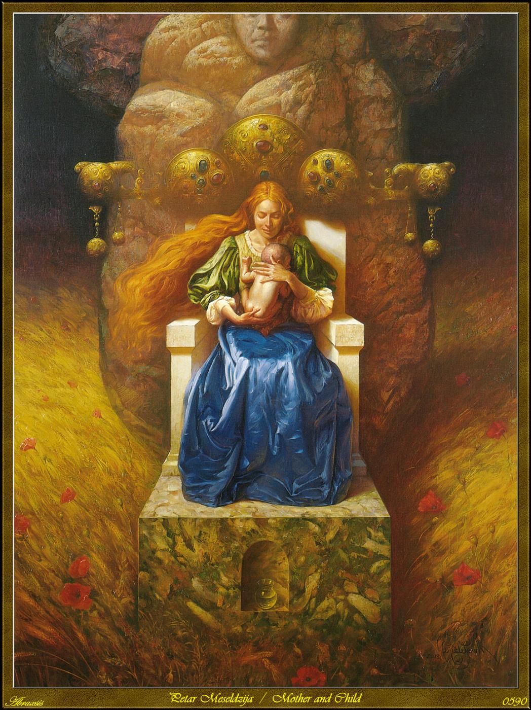 Peter Mesaldzijah. Mother and child