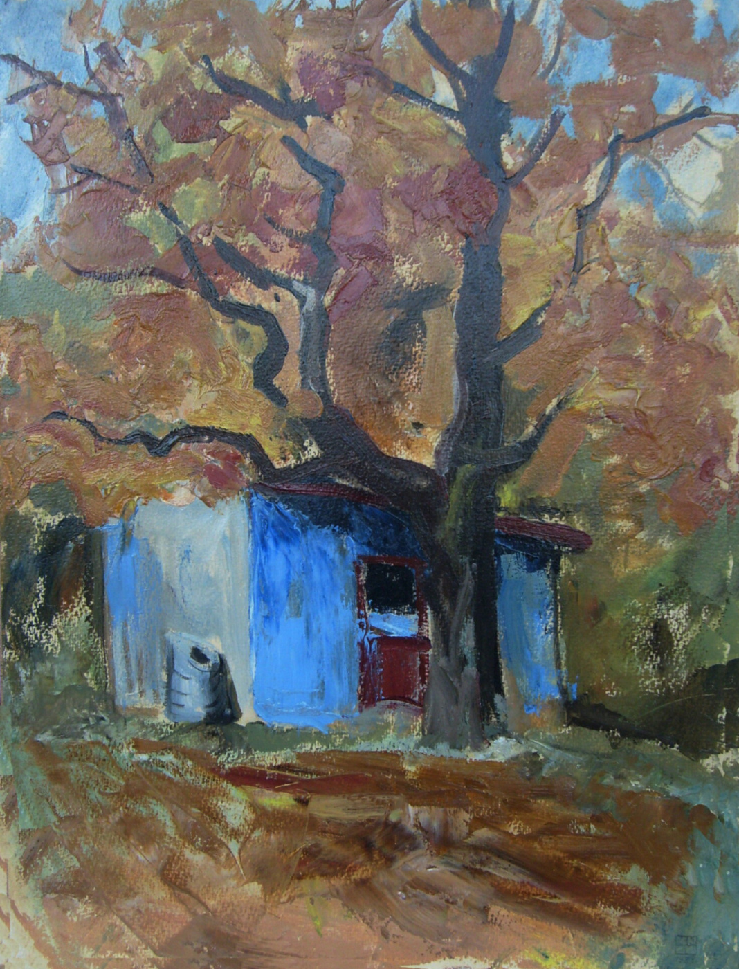 """Yuri Petrovich Konnov. """"Blue shed"""""""