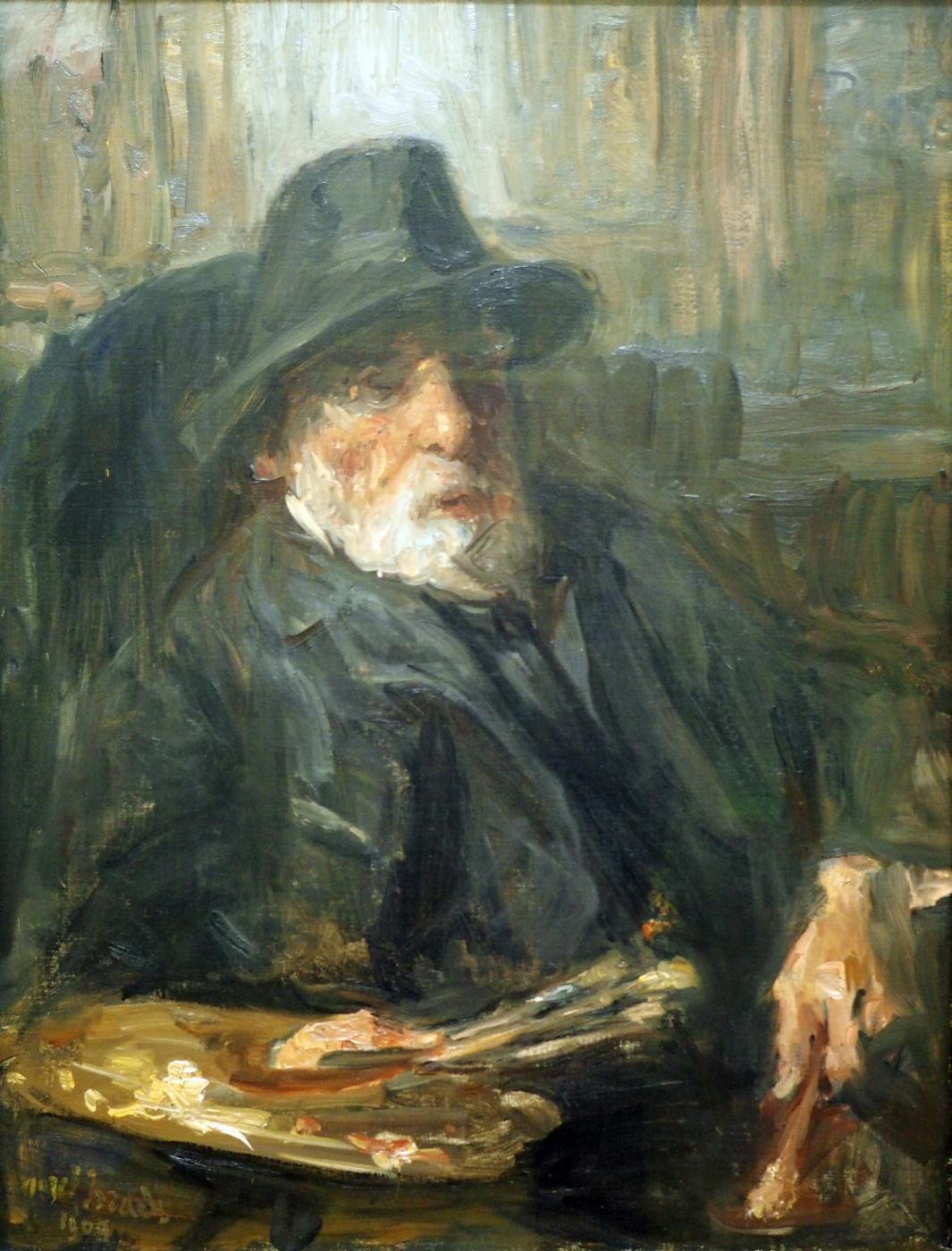 Joseph Israel. Self-portrait