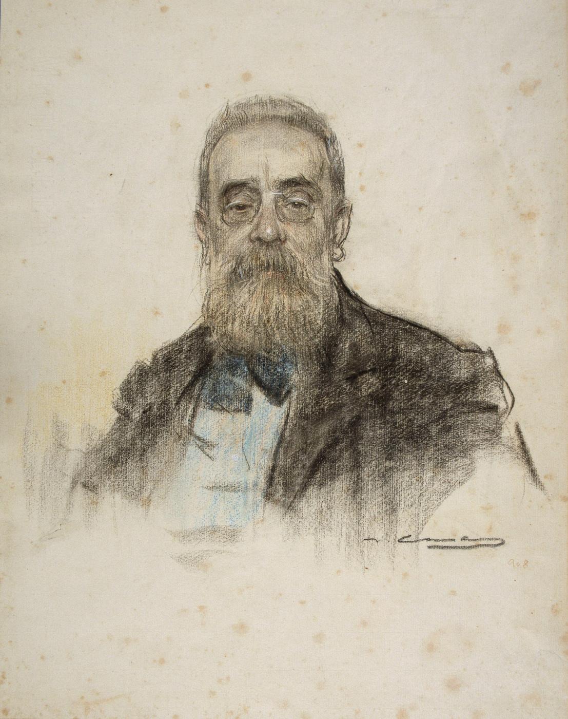 Ramon Casas i Carbó. Portrait of Salvador Sanper Mikel