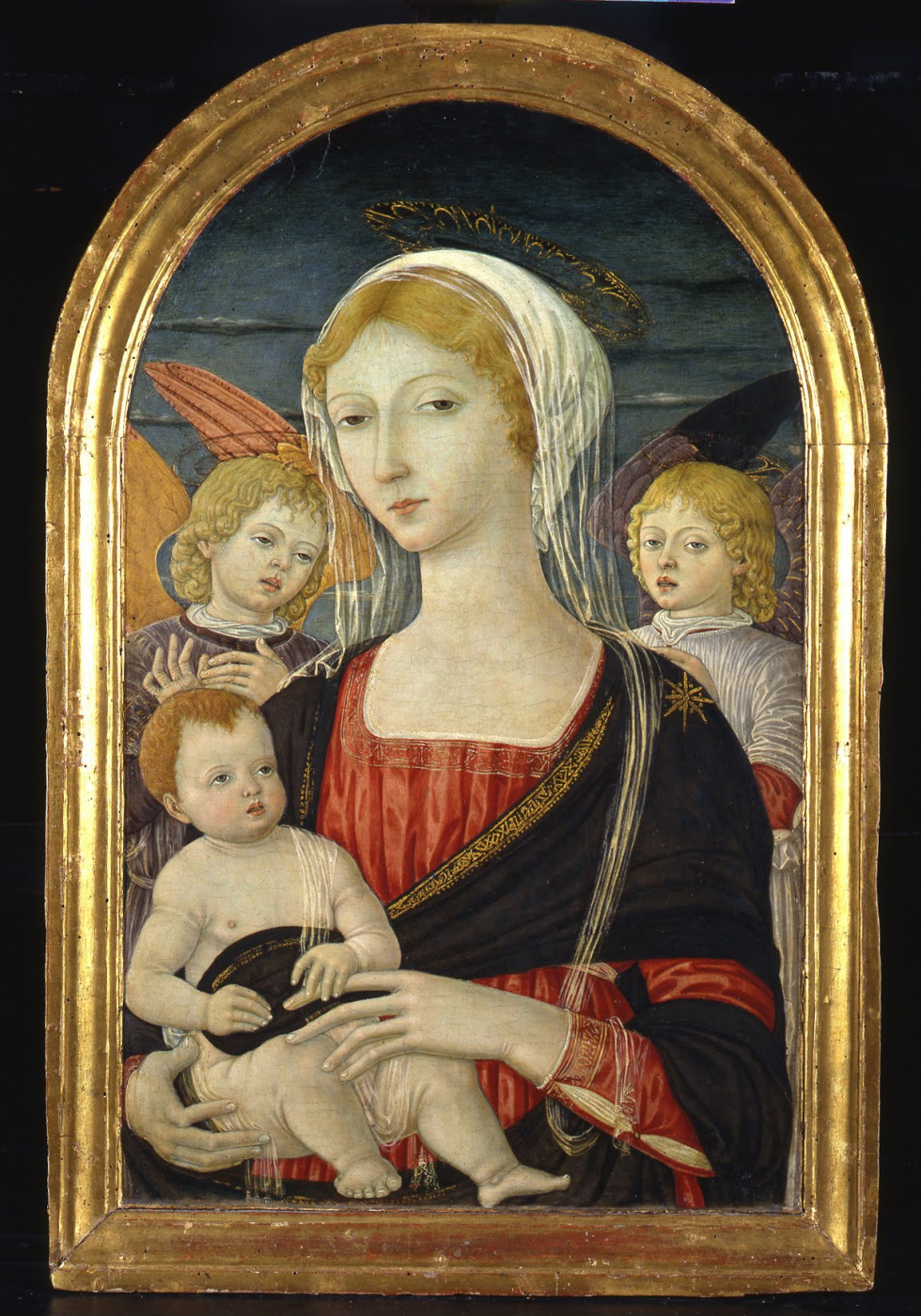 Matteo di Giovanni. Madonna and child with angels