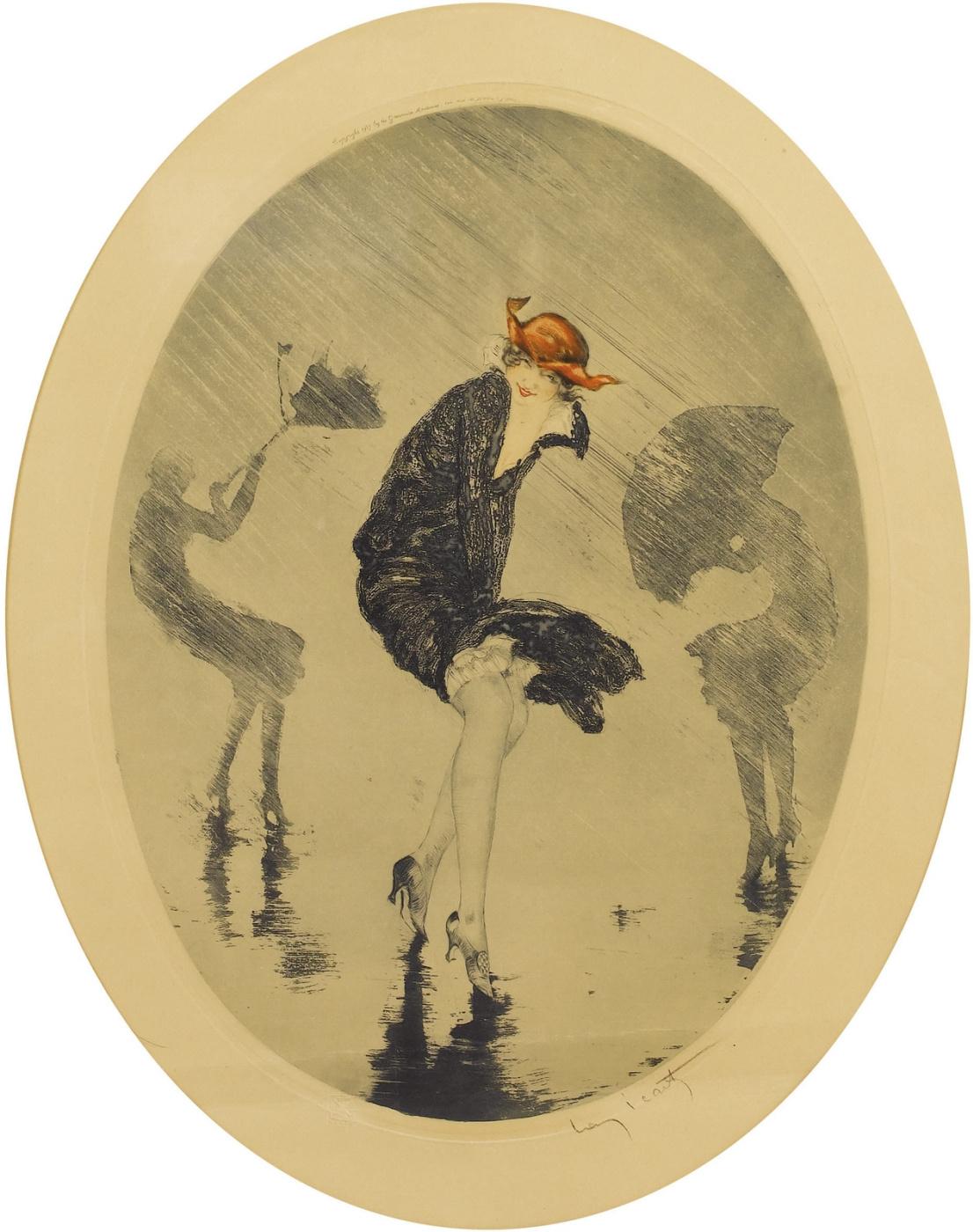 Икар Луи Франция 1888 - 1950. Дождь. 1925