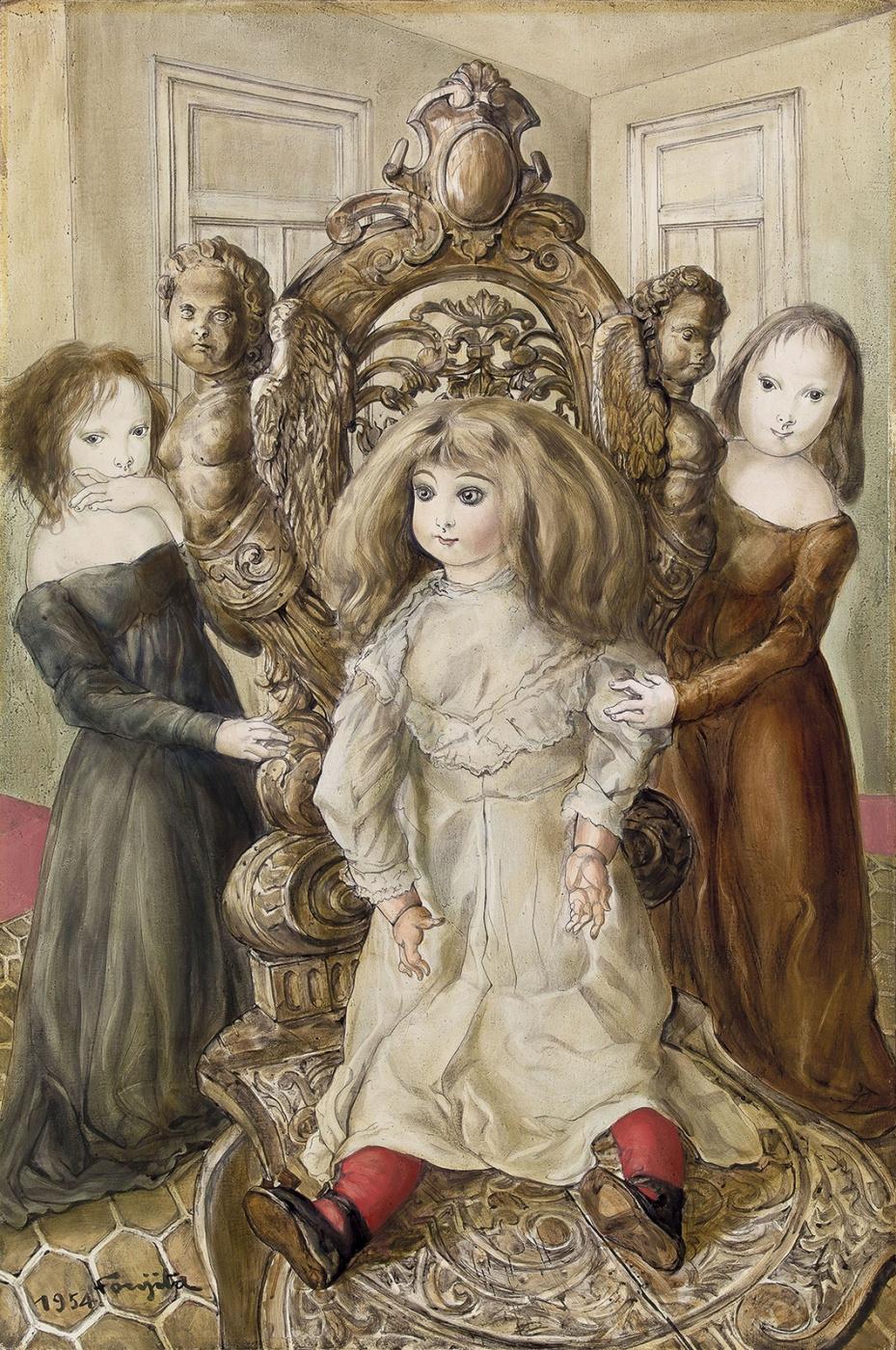 Цугухару Фудзита (Леонар Фужита). Кукла и девочки