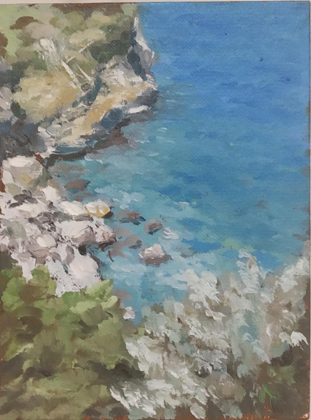Alexandra Sergeevna Fedulova. Lipari Island. The bay