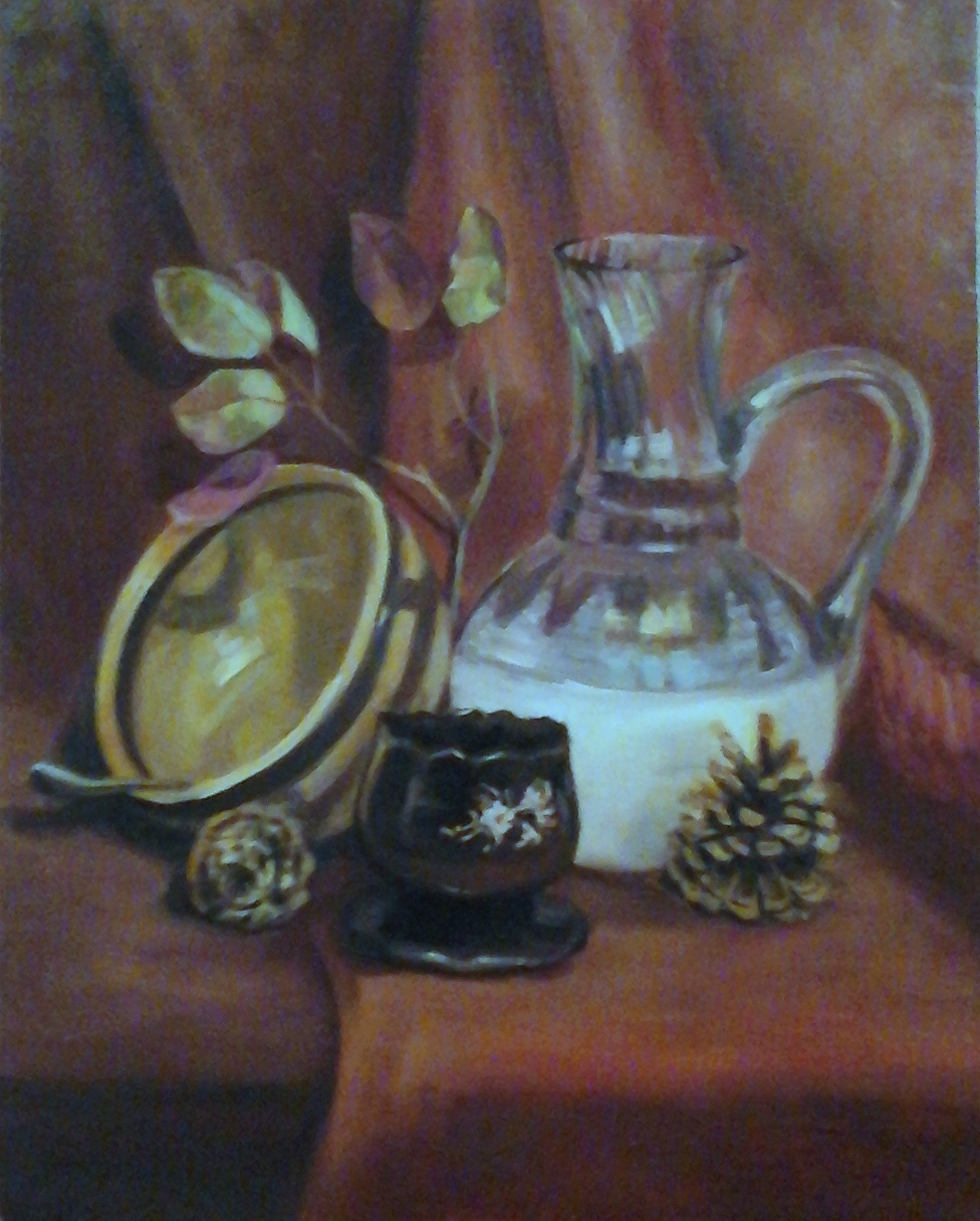 Stetskaya Alexandrovna Elena. Still life with pine cones