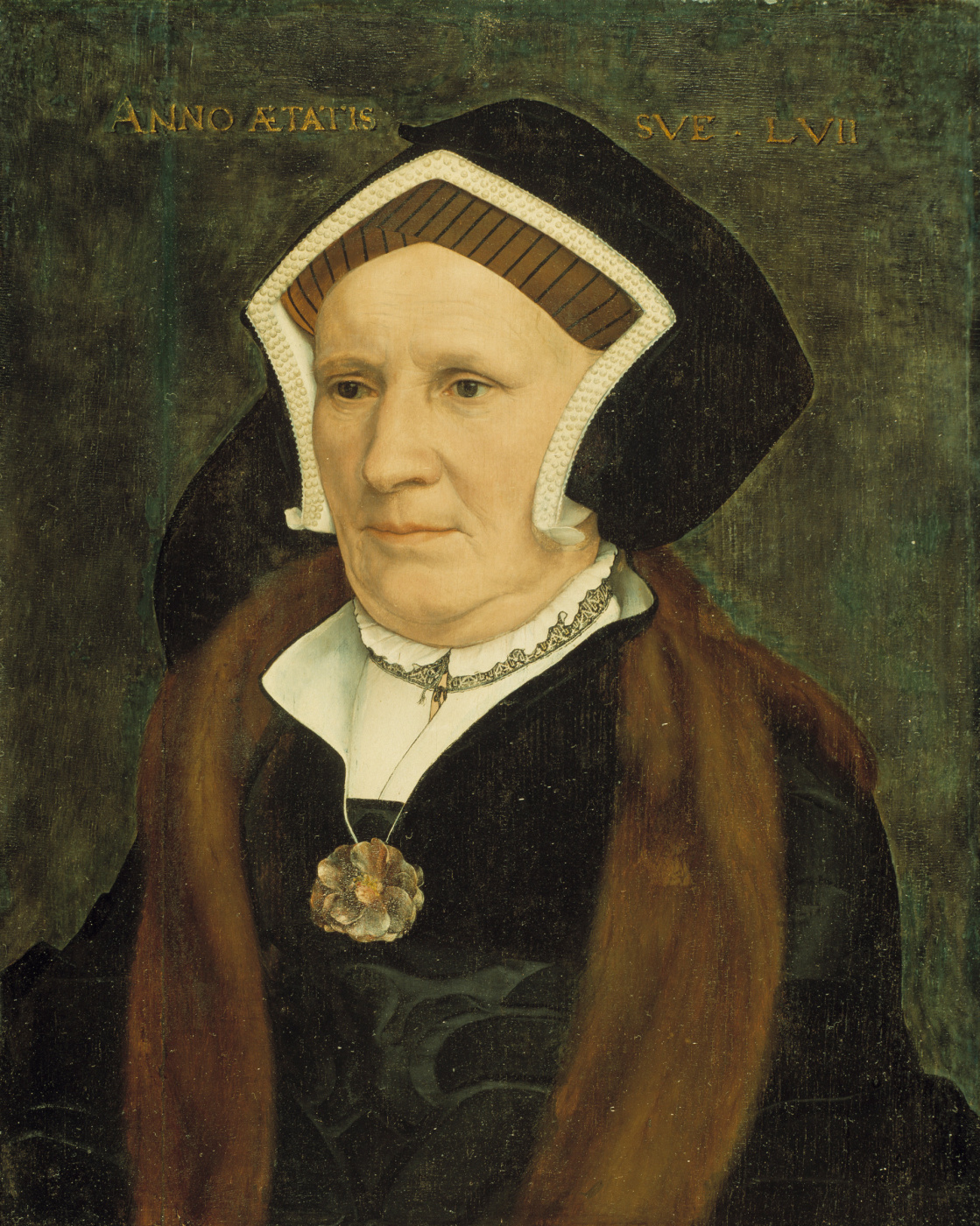 Hans Holbein the Younger. Portrait of Lady Margaret Butts