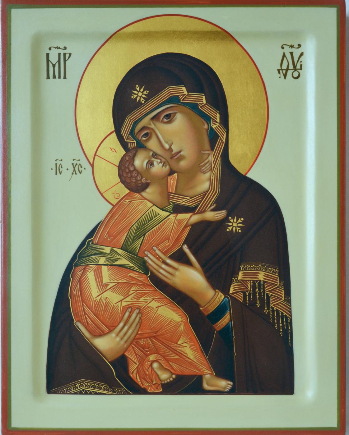 Vladimir Alekseevich Konnov. Icon of the Virgin of Vladimir