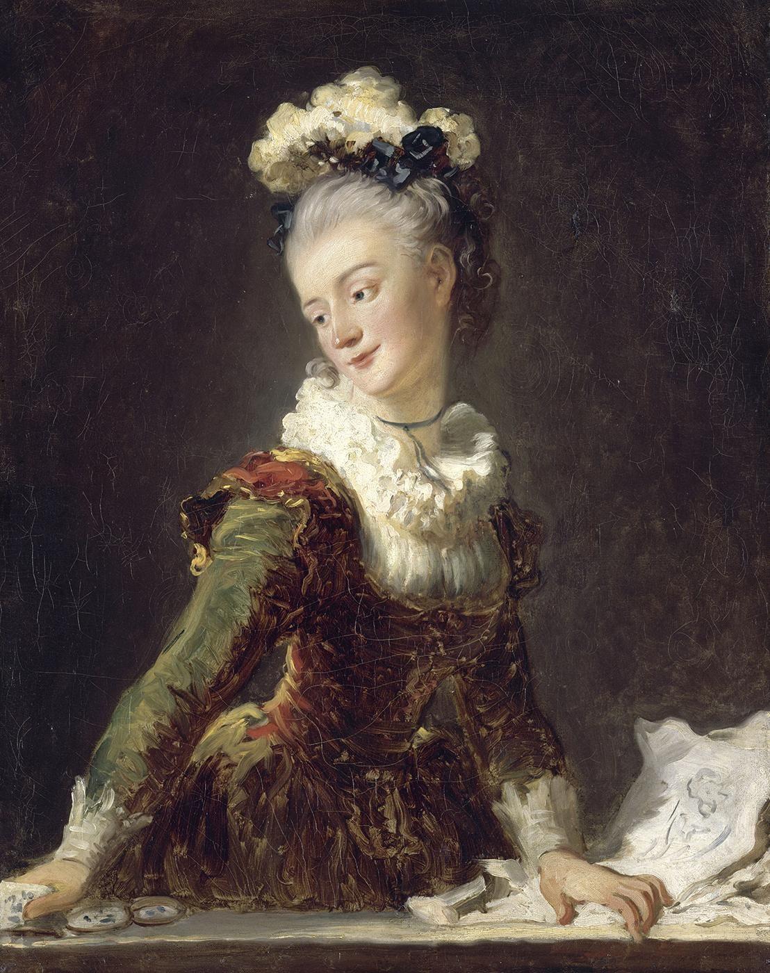 Jean-Honore Fragonard. Portrait of Marie Anne eléonore de Grave
