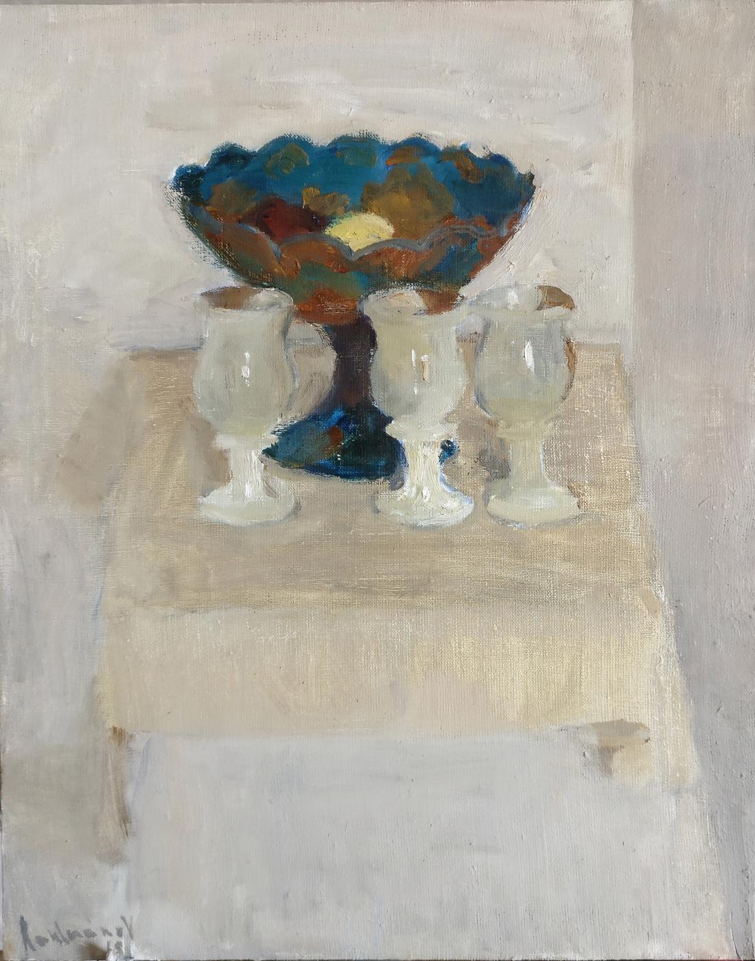 Samir Rakhmanov. White Composition with a Vase