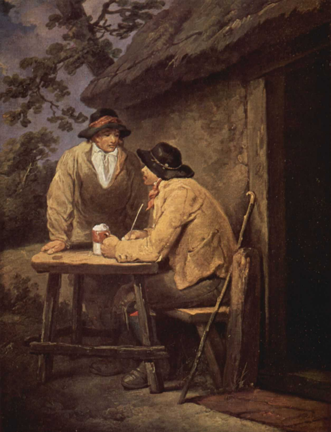 George Morland. At the door of the diner