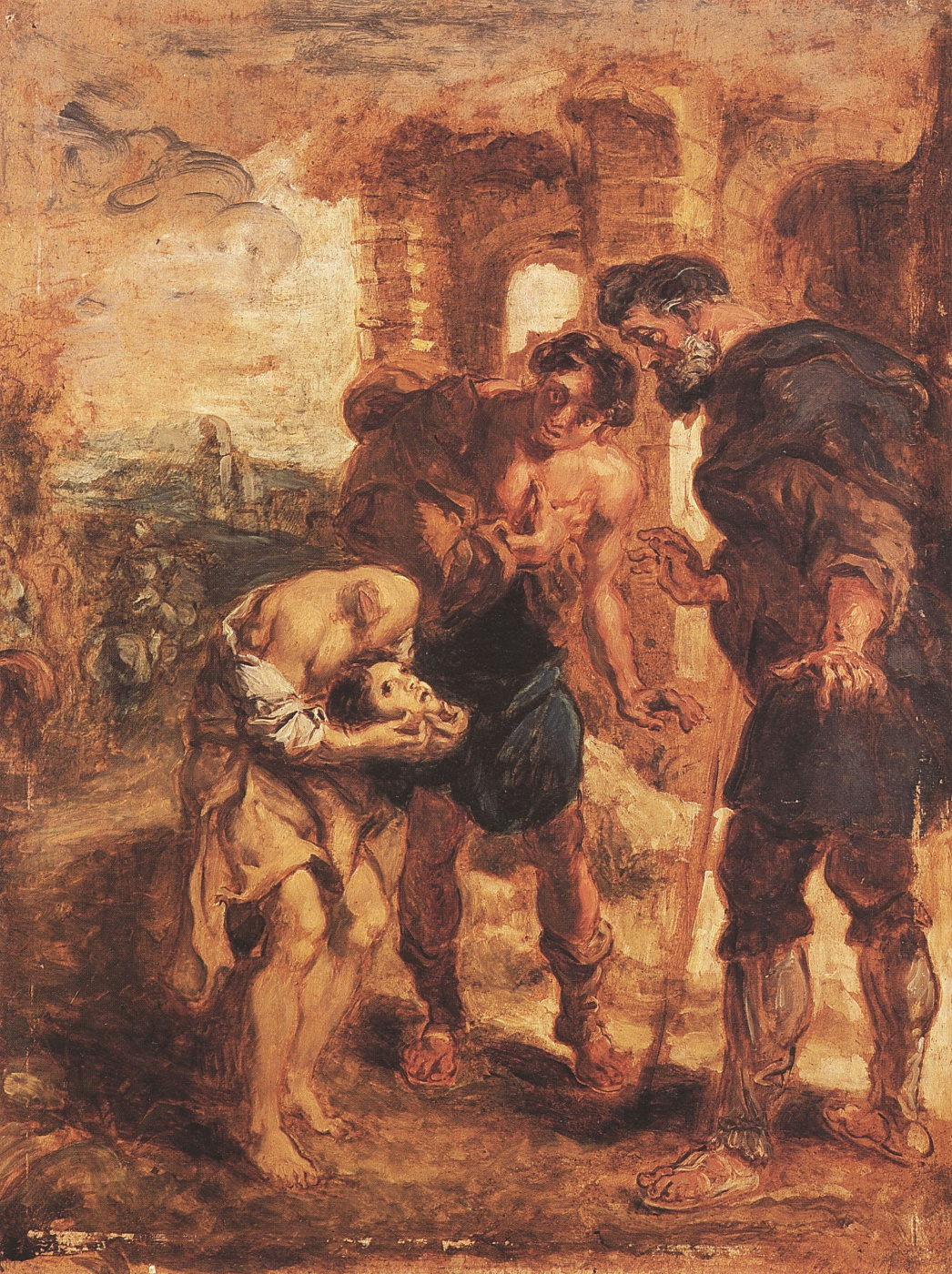Eugene Delacroix. The miracle of St. Justus (the Rubens)
