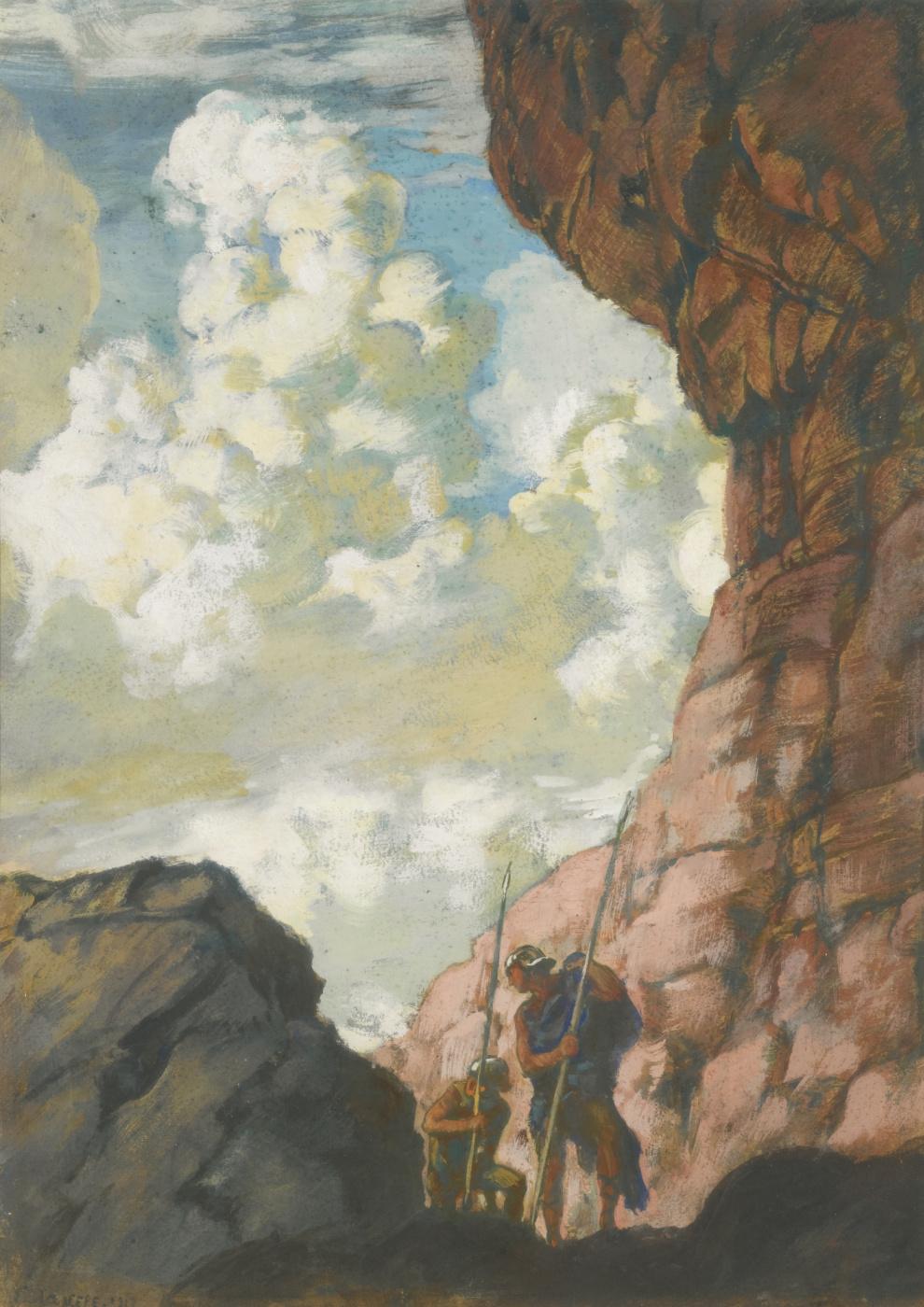 Evgeniy Evgenievich Lansere. Mountain landscape