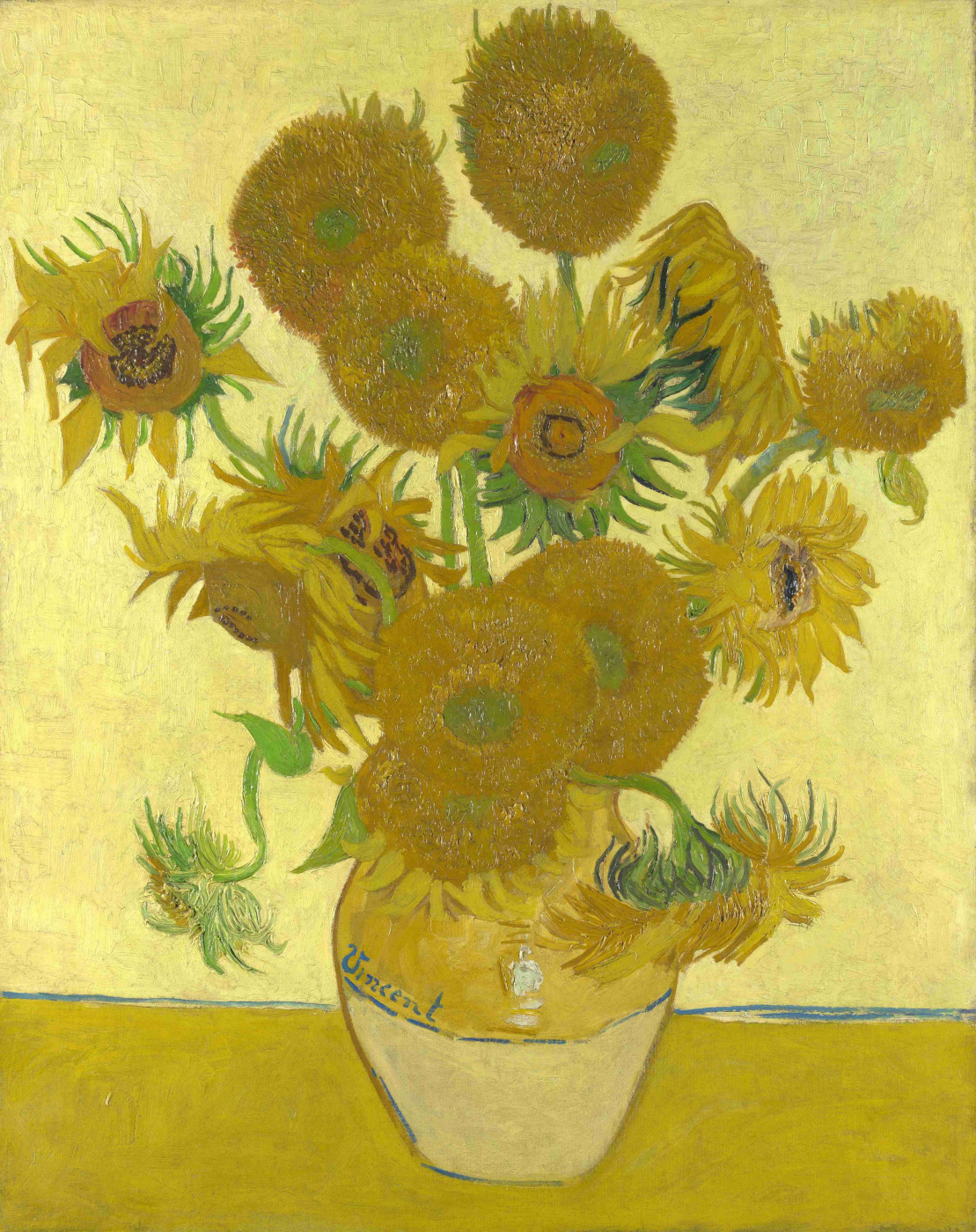Vincent van Gogh. Sunflowers (Vase with fifteen sunflowers)