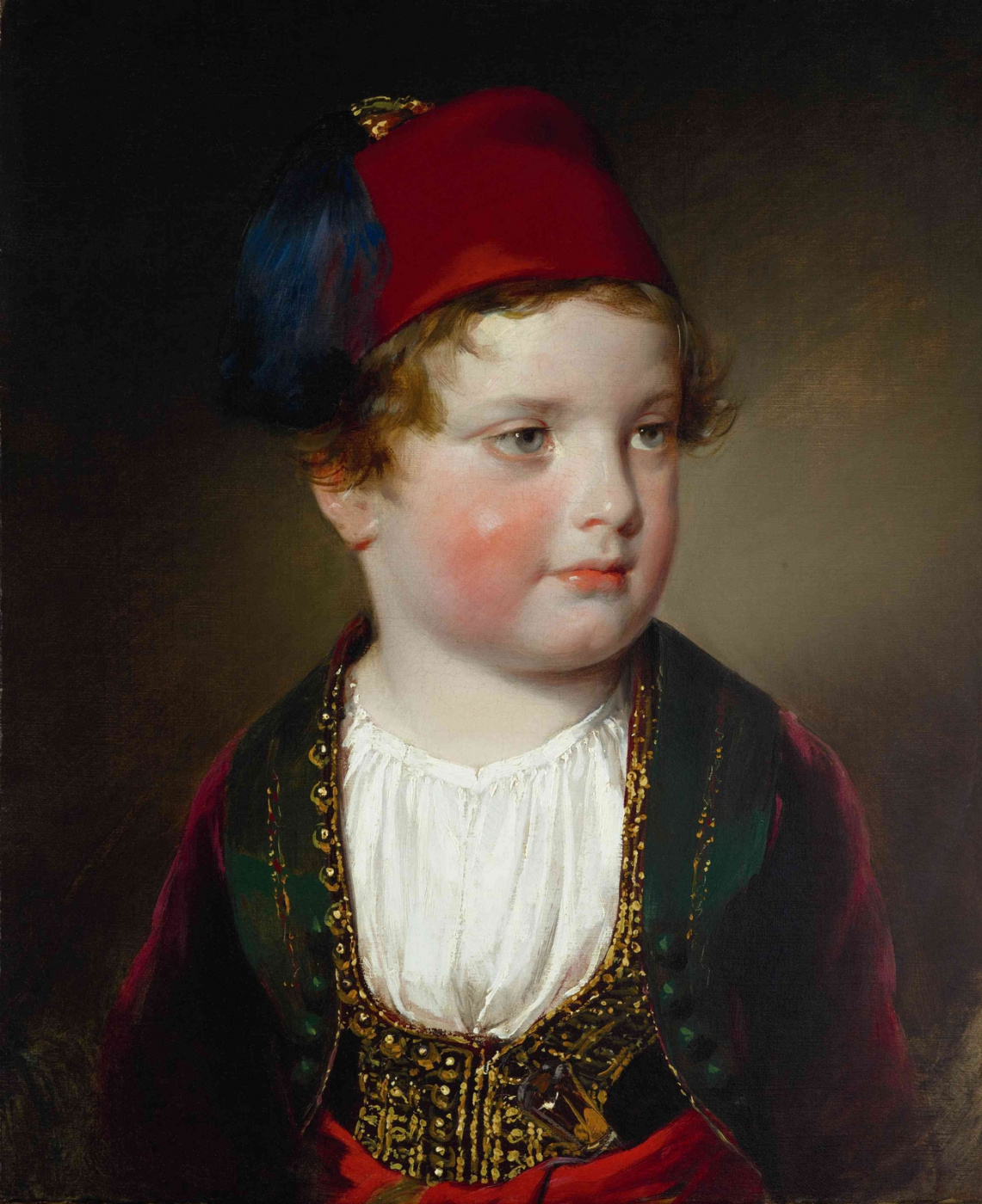 Friedrich von Amerling. Portrait of Prince Victor Odescalchi in Greek costume. 1838