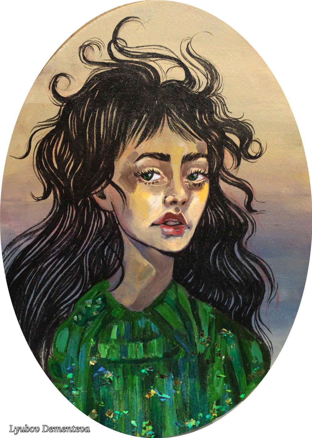 "Lyubov Dementeva. ""Девушка в зелёном"""