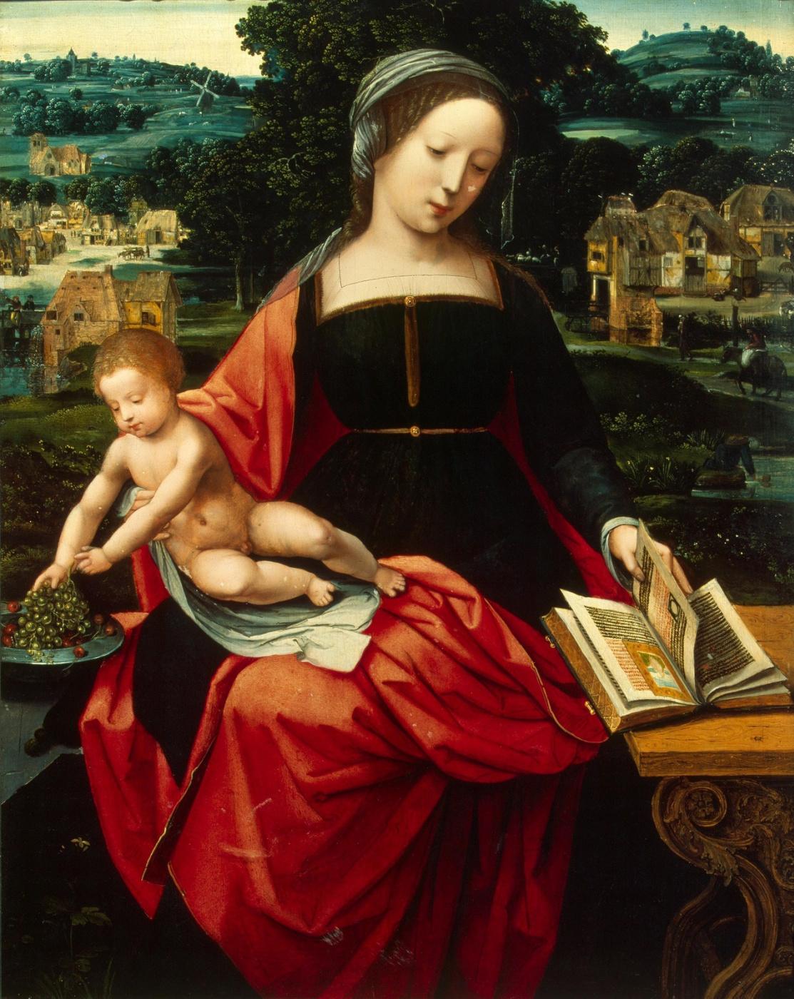 Неизвестный  художник. Нидерландская школа. 1530-1540 Мадонна с Младенцем.