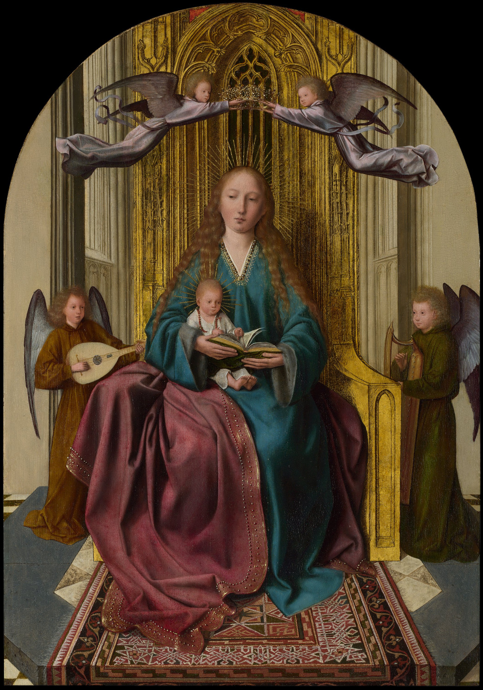 Quentin Massys. Virgin Mary with a baby and four angels