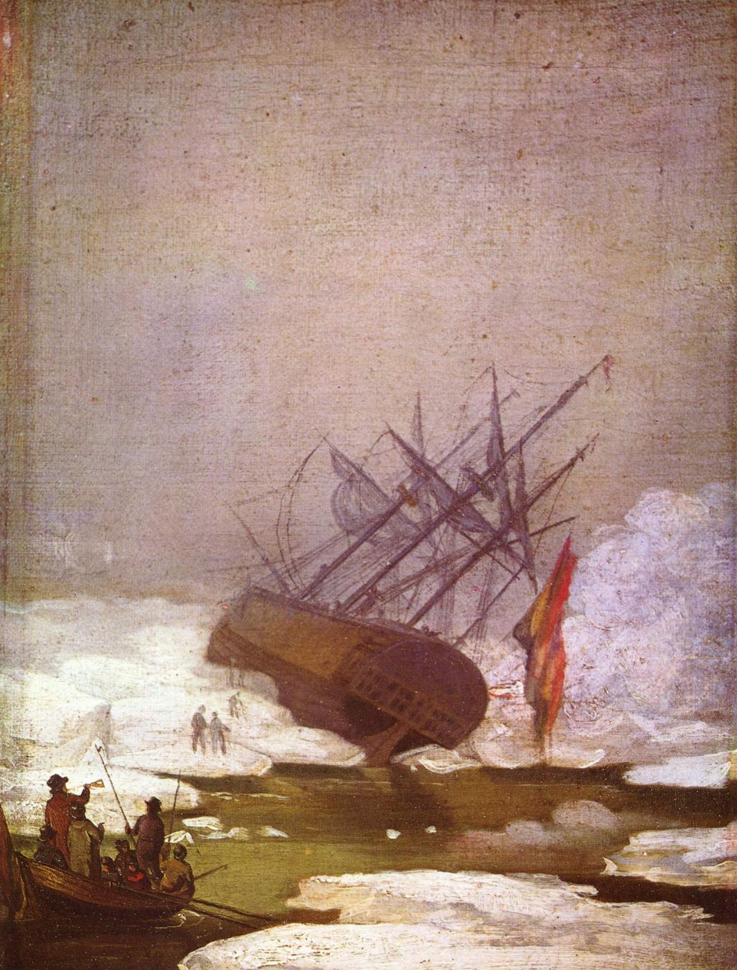 Caspar David Friedrich. Shipwreck in the polar sea