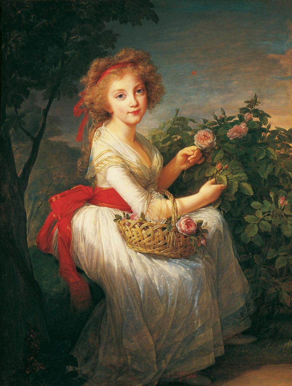Elizabeth Vigee Le Brun. Portrait of Maria Christina, Princess of Sicily