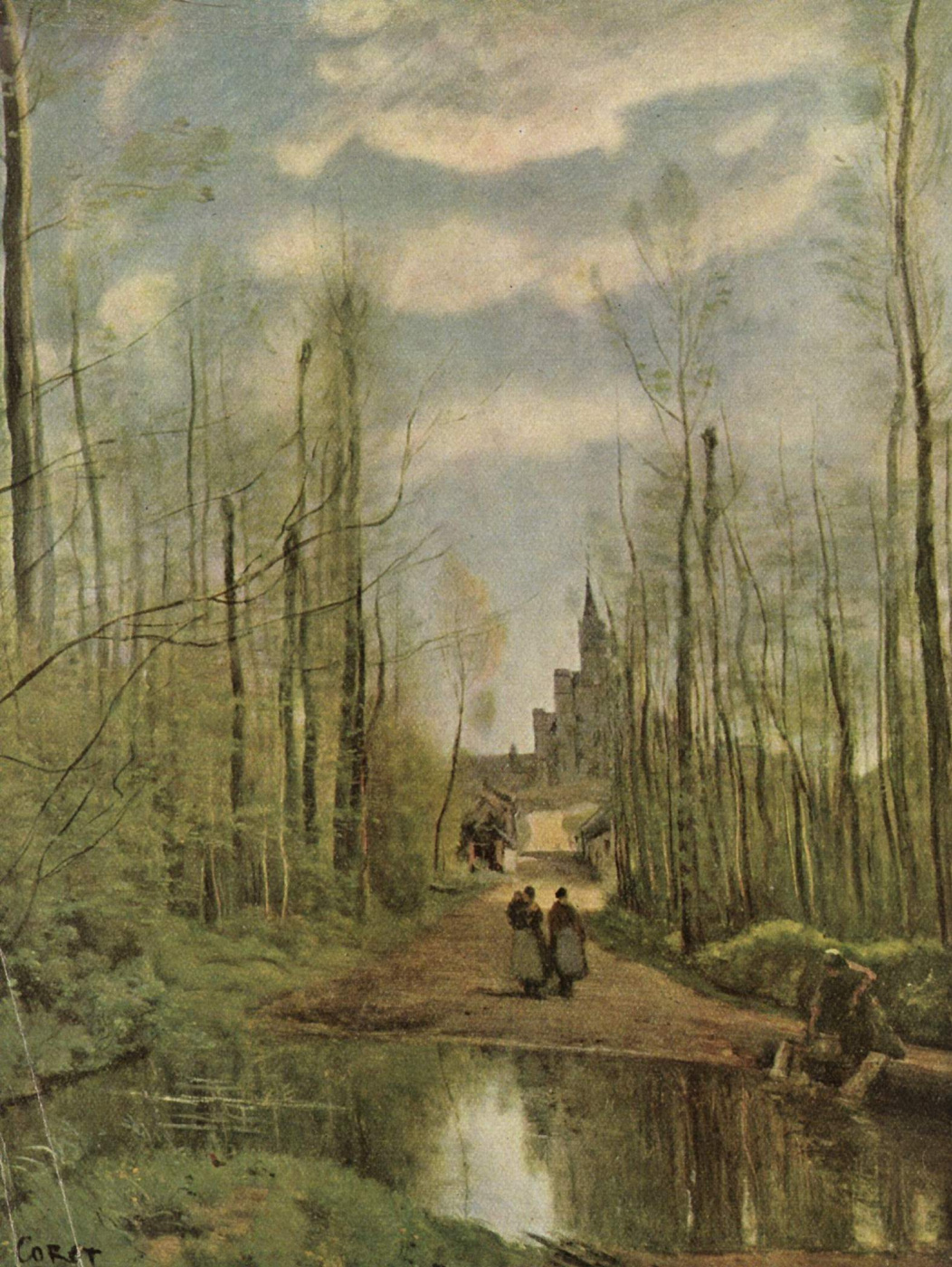 Camille Corot. Church in marissel
