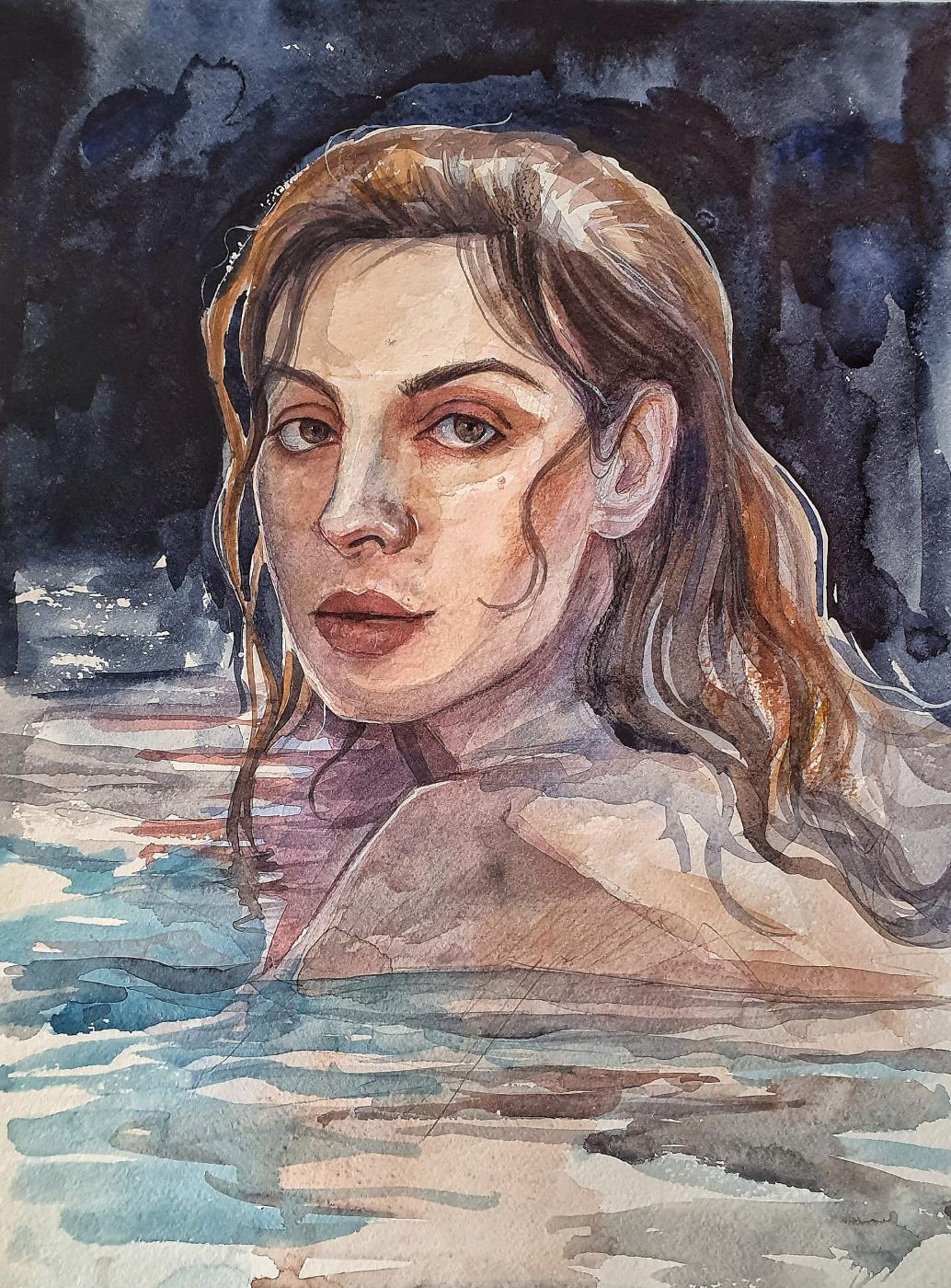 """Natalya Ukraintseva. """"Portrait of Elena Podkaminskaya"""""""