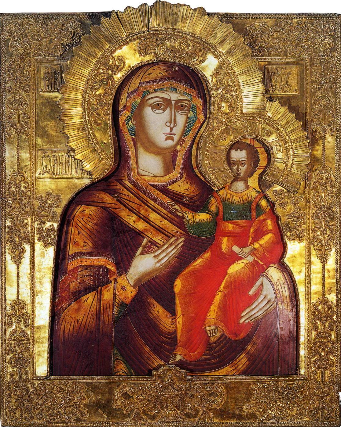 Icon Painting. Mother of God Odigitriya Smolenskaya (Nevyansk)