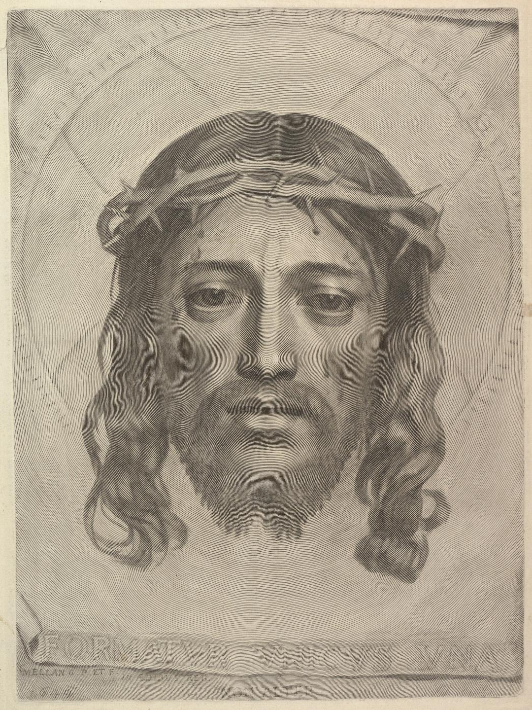 Claude Mellan. Sudarium of Saint Veronica