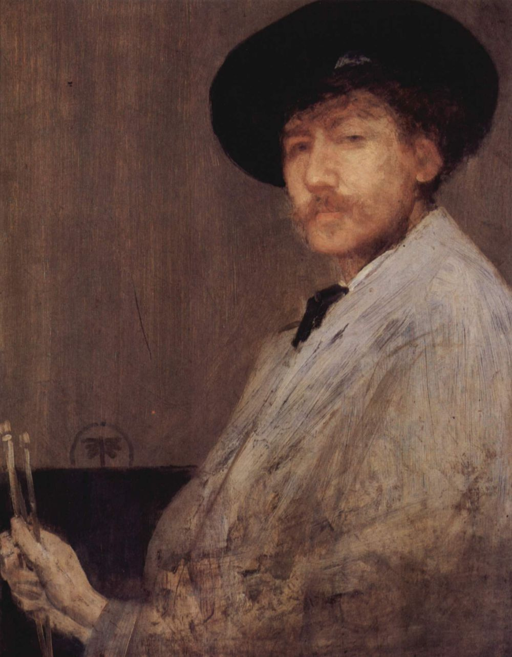 James Abbot McNeill Whistler. Composition in grey. Self portrait