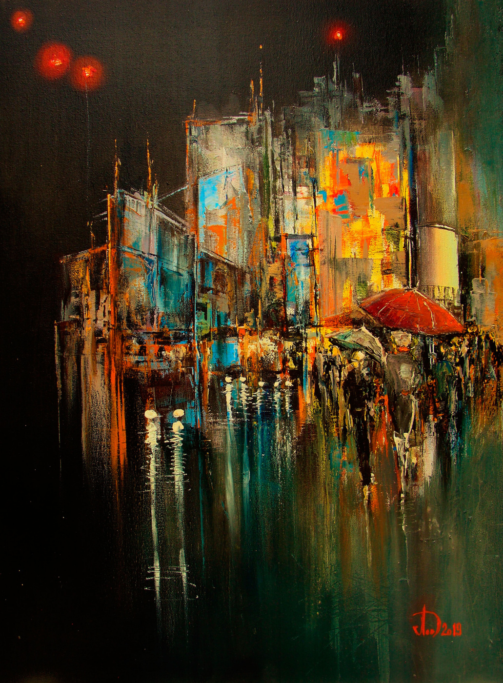 Alexander Alekseevich Lednev. In the night city