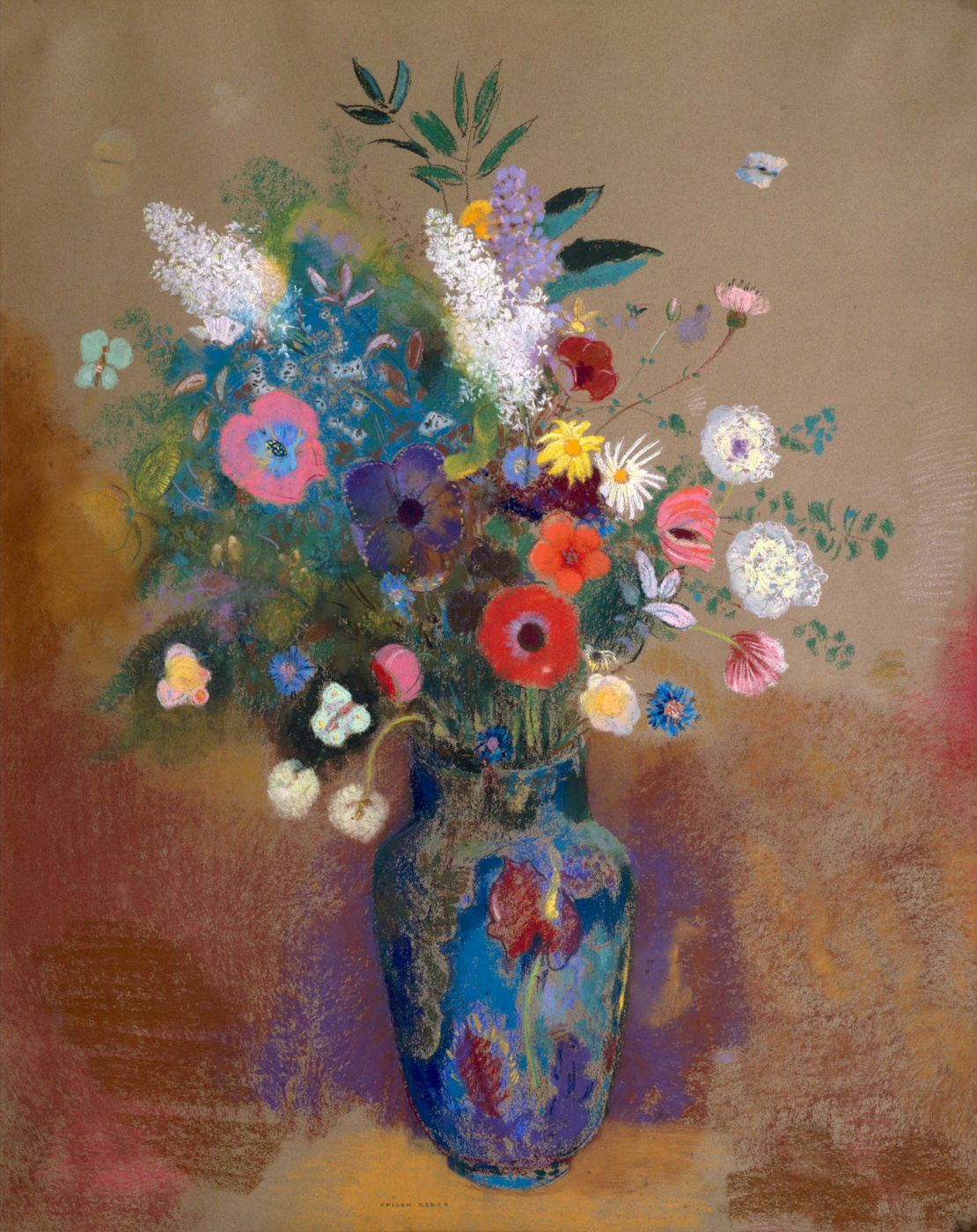 Odilon Redon. A bouquet of flowers