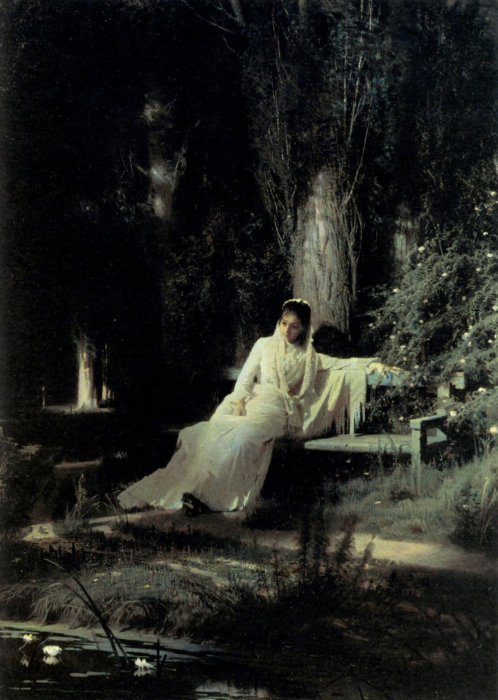 Ivan Nikolayevich Kramskoy. Moonlit night