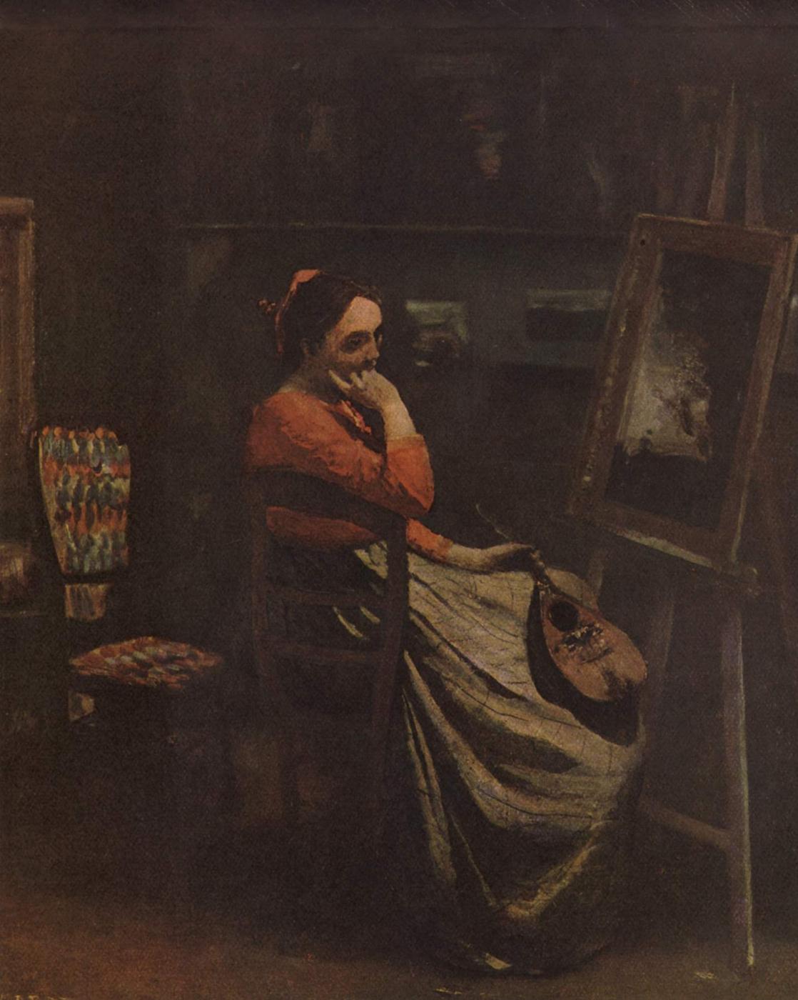 Camille Corot. Artist's atelier